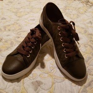 Michael kors signature print sneaker shoes sz 8.5